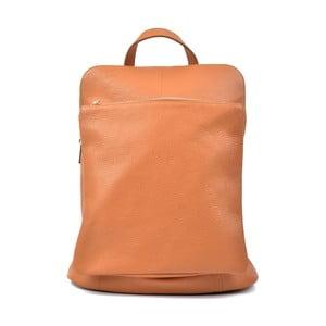 Koňakově hnědá kožený batoh Isabella Rhea Turo