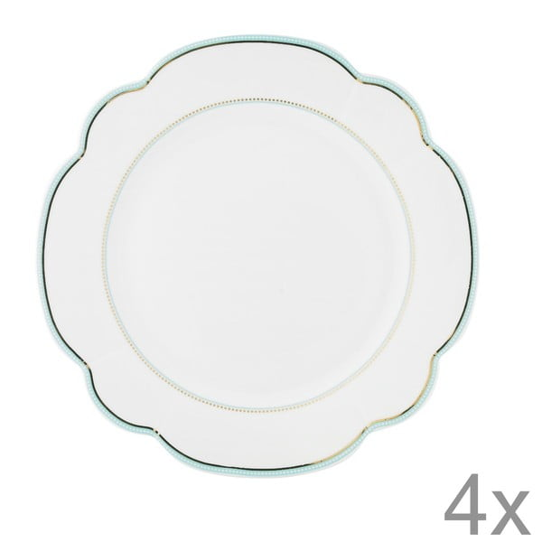 Porcelánový talíř  Continental od Lisbeth Dahl, 24 cm, 4 ks