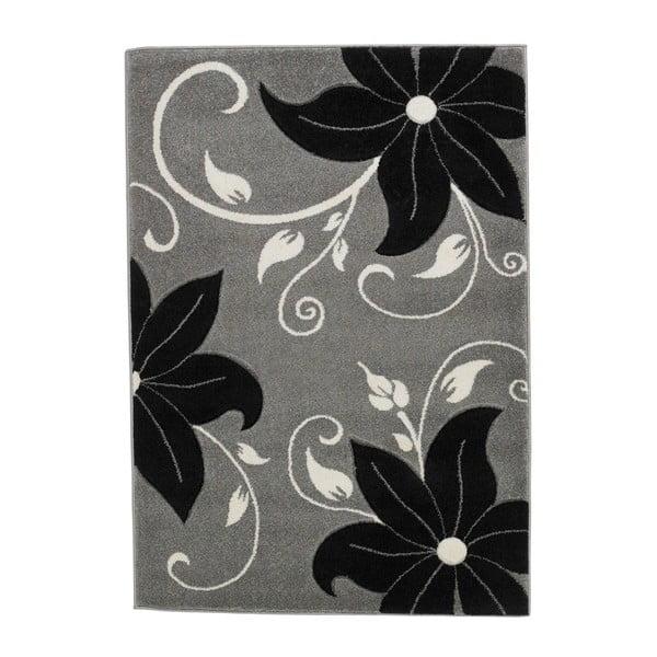 Verona fekete-szürke szőnyeg, 120 x 170 cm - Think Rugs