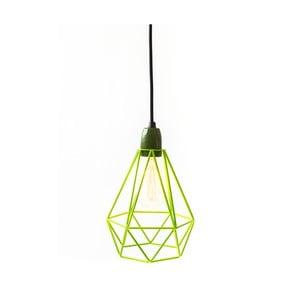 Světlo se zeleným stínítkem a černým kabelem Filament Style Diamond #1