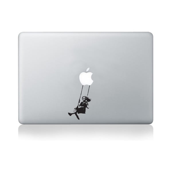 Samolepka na notebook Girl Swinging by Banksy