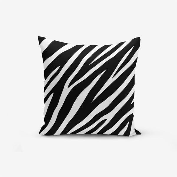 Față de pernă Minimalist Black White Zebra, 45 x 45 cm