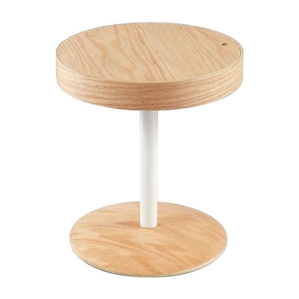 Lampang barna tárolóasztal, elfordítható lappal - Design Twist