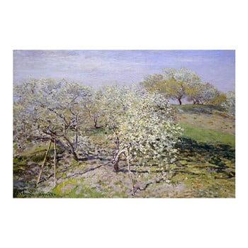 Reproducere pe pânză după Claude Monet - Spring, 90 x 60 cm
