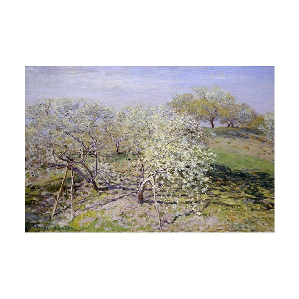 Reprodukce obrazu Claude Monet - Spring, 90 x 60 cm