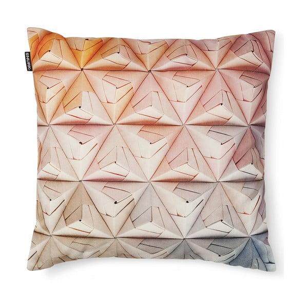Růžový povlak na polštář Snurk Geogami, 50x50cm