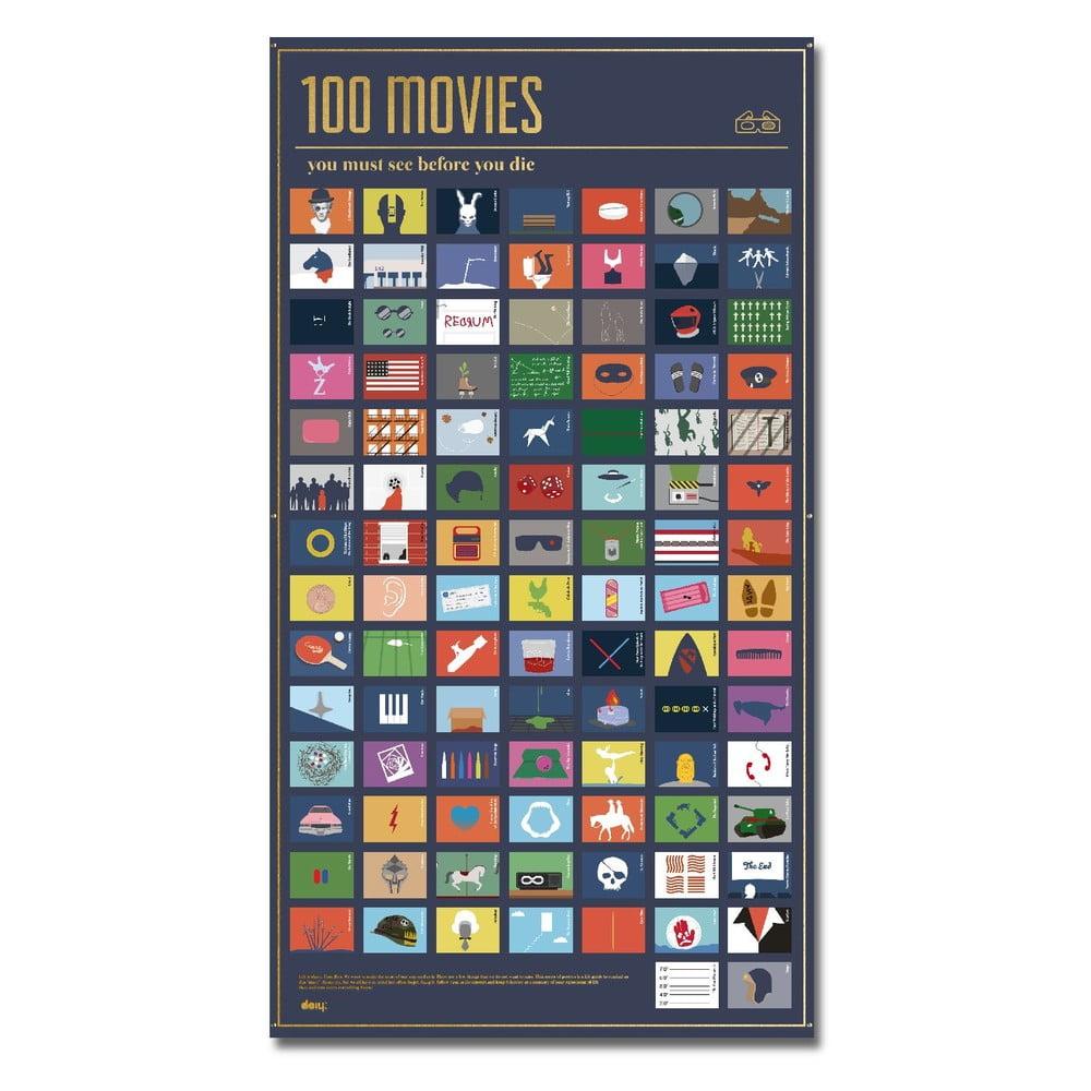 Plakát DOIY 100 Movies You Must See, 54,5 x 98 cm