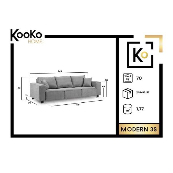 Tmavě modrá třímístná pohovka Kooko Home Modern