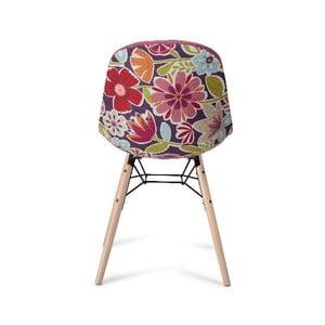 Scaun cu picioare din lemn de fag Furnhouse Sun, roz