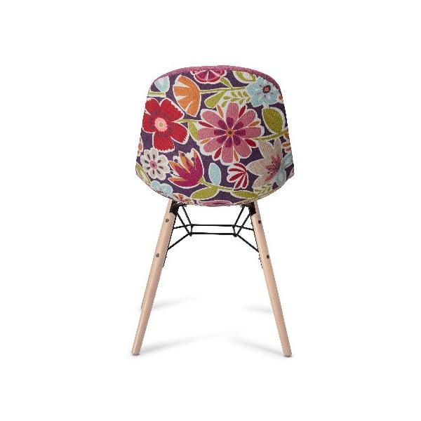 Ružová jedálenská stolička s nohami z bukového dreva Furnhouse Sun