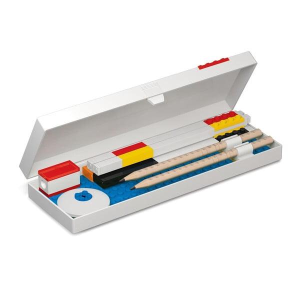Piórnik z minifigurką na czerwonym klocku LEGO® Stationery