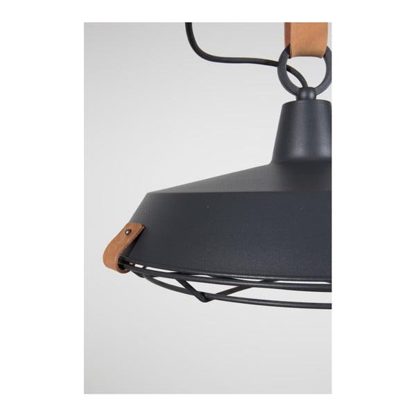 Tmavě šedé stropní svítidlo Zuiver Dek, Ø40cm