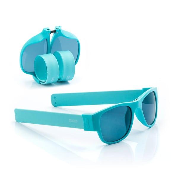Tyrkysové sluneční srolovatelné brýle InnovaGoods Sunfold PA4