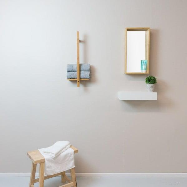 Raft de perete din lemn masiv de cauciuc Furniteam Design