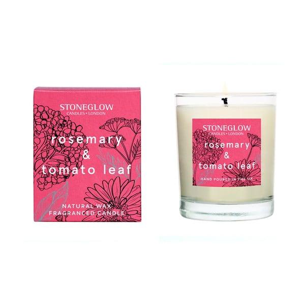Gyertya paradicsomlevél és rozmaring illattal, 35 óra égési idővel - Stoneglow