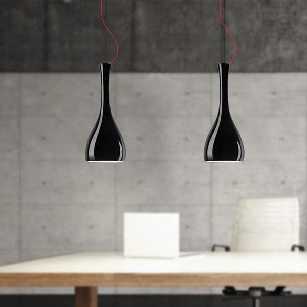 Černé závěsné svítidlo Sotto Luce ITTEKI Elementary Glossy