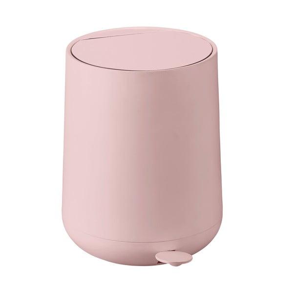 Coș de gunoi cu pedală Zone Nova, 5 l, roz