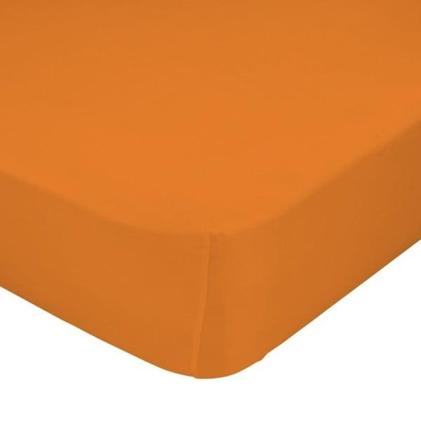 Prostěradlo Little W, 90x200cm, oranžové
