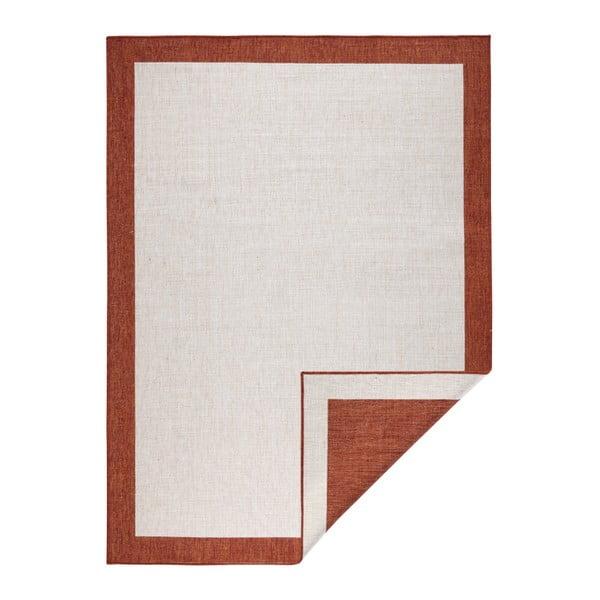 Covor adecvat pentru exterior Bougari Panama, 80 x 150 cm, roșu - crem