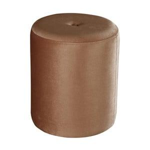 Hnědý puf JohnsonStyle Ellen Magic Velvet, ⌀ 40 cm