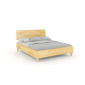 Dvoulůžková postel z masivního borovicového dřeva SKANDICA Viveca, 200 x 200 cm