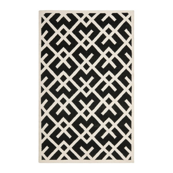 Czarny dywan wełniany Safavieh Marion, 121x182 cm
