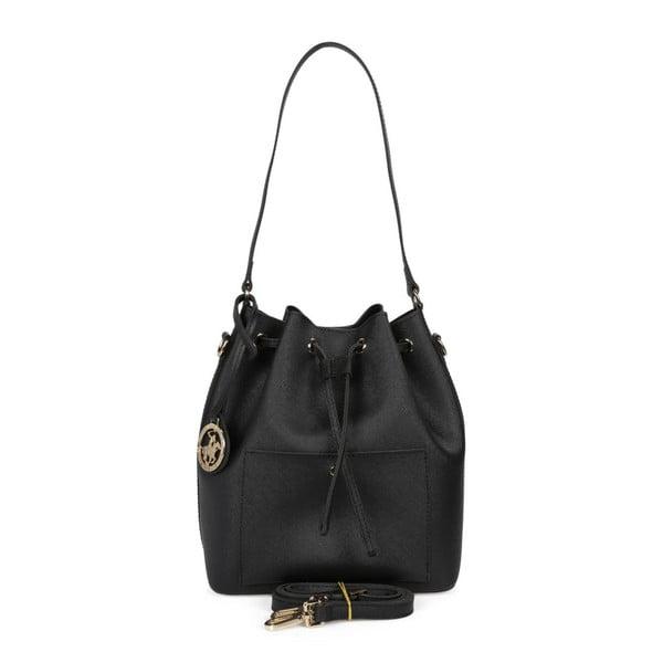 Čierna kabelka z eko kože Beverly Hills Polo Club Sophia