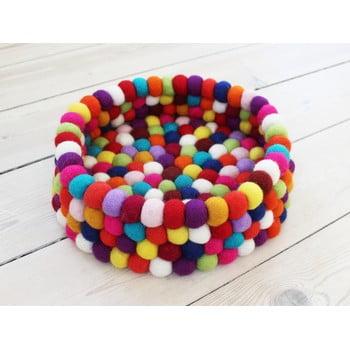 Coș depozitare, cu bile din lână Wooldot Ball Basket, ⌀ 28 cm, roșu închis