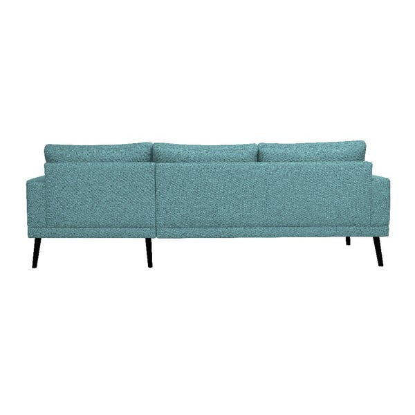 Modrá rohová pohovka Windsor & Co Sofas Rigel, pravý roh