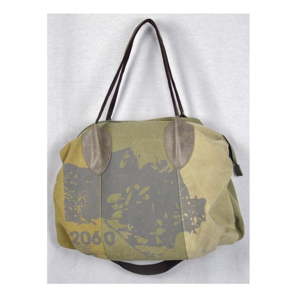 Khaki zelená plátěná taška Sorela Travel