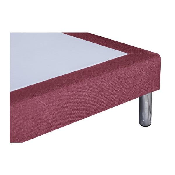 Růžová postel s matrací Stella Cadente Pluton, 140x200 cm