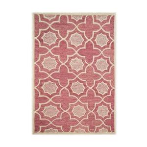 Fialový vlněný koberec The Rug Republic Lifestyle, 183x122cm