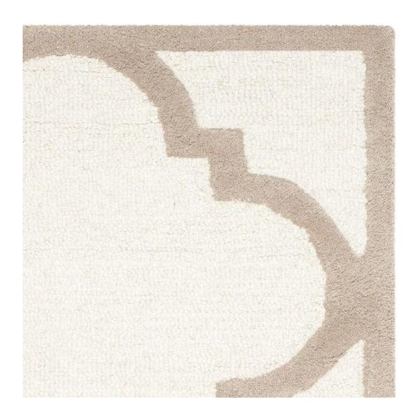 Vlněný koberec Clark Cream, 60x91 cm
