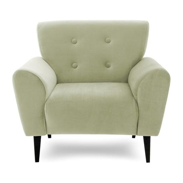Jasnozielony fotel Vivonita Kiara