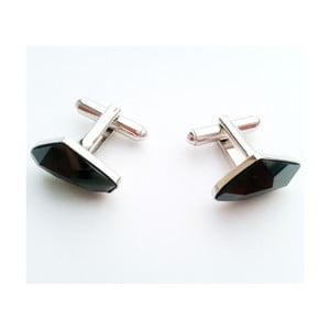 Manžetové knoflíčky Černý krystal