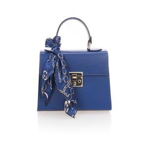 Modrá kožená kabelka Lisa Minardi Nudora