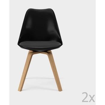 Set 2 scaune Tenzo Gina, negru de la Tenzo