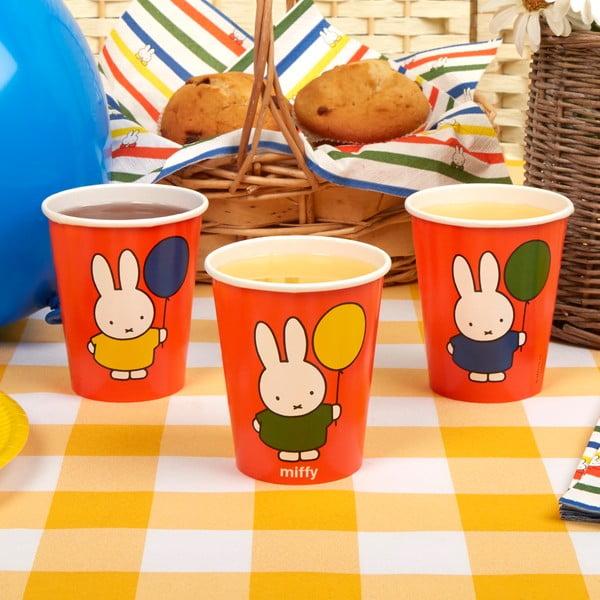 Set 8 pahare din hârtie Neviti Miffy Birthday
