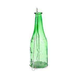 Zelený závěsný skleněný svícen Dakls Romance