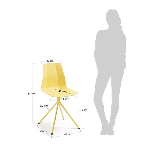 Sada 2 žlutých jídelních židlí La Forma Pixel