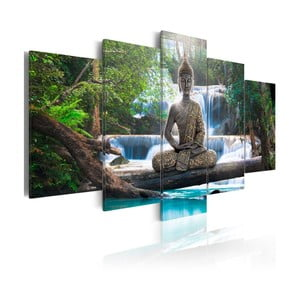 Tablou pe pânză 5 piese Artgeist Buddha, 100 x 200 cm