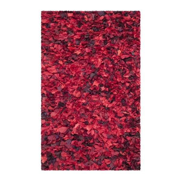 Koberec Safavieh Penelope Shag, 121x182 cm, červený