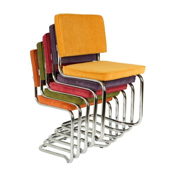 Set 2 scaune Zuiver Ridge Kink Rib, verde