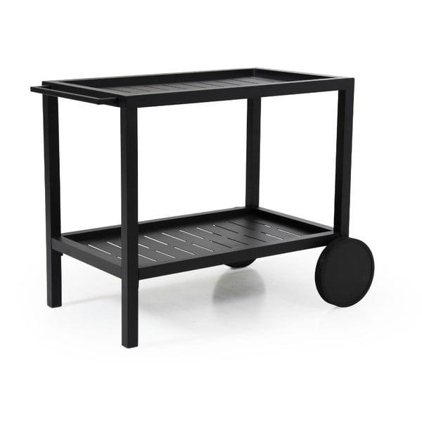 Černý pojízdný zahradní stolek Brafab Belfort