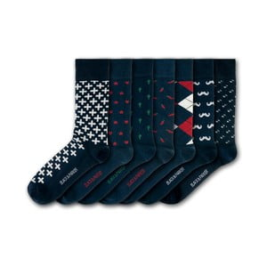 Sada 7 ponožek Black&Parker London Nothe Gardens, velikost 37 – 43