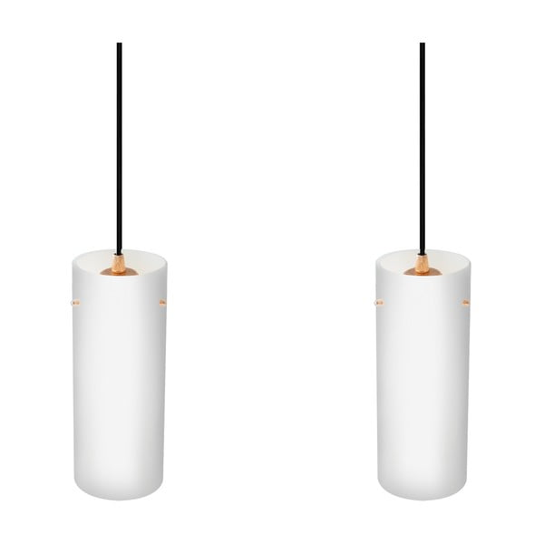 Dvojité svítidlo PAIPU Elementary, matná opálová/zlatá/černá/černá