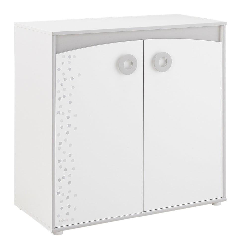 Bílá dvoudveřová komoda Galipette Zoé