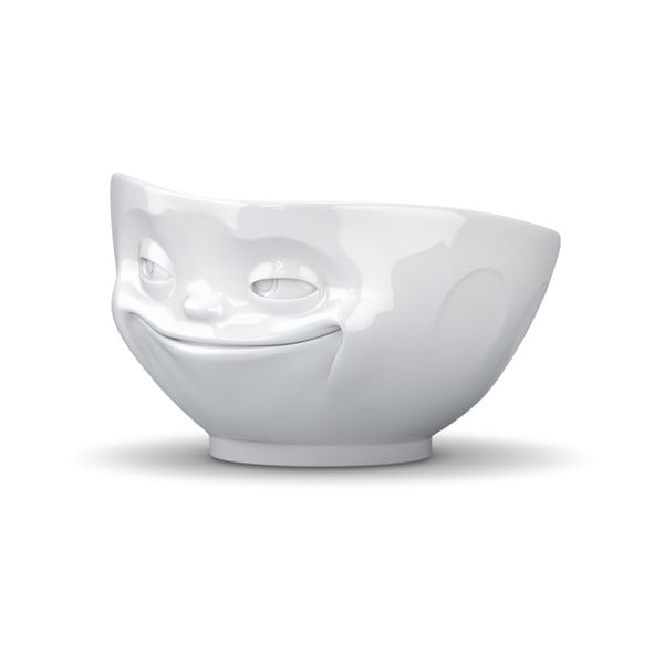 Bílá usměvavá miska 58products
