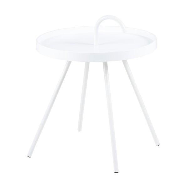 Bílý příruční stolek Actona Mico