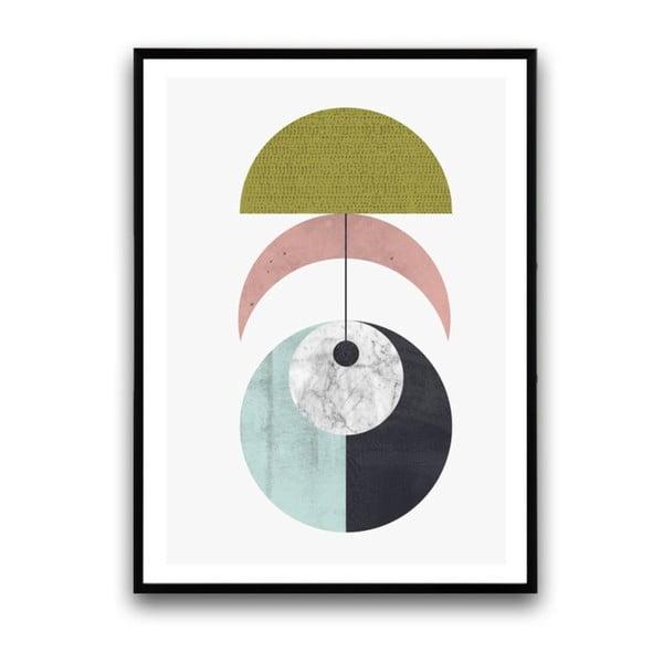 Plakát v dřevěném rámu Amure, 38x28 cm